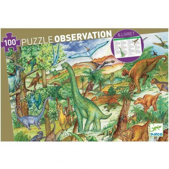 Puzzle Observación Dinosaurios - 100 piezas -