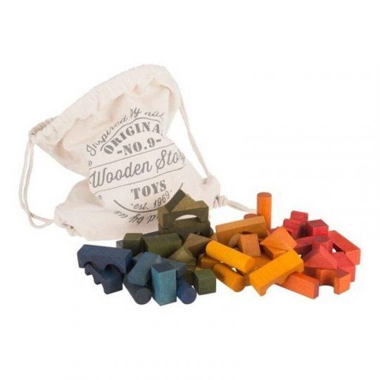 Bloques Arcoíris en Saco - 100 piezas -