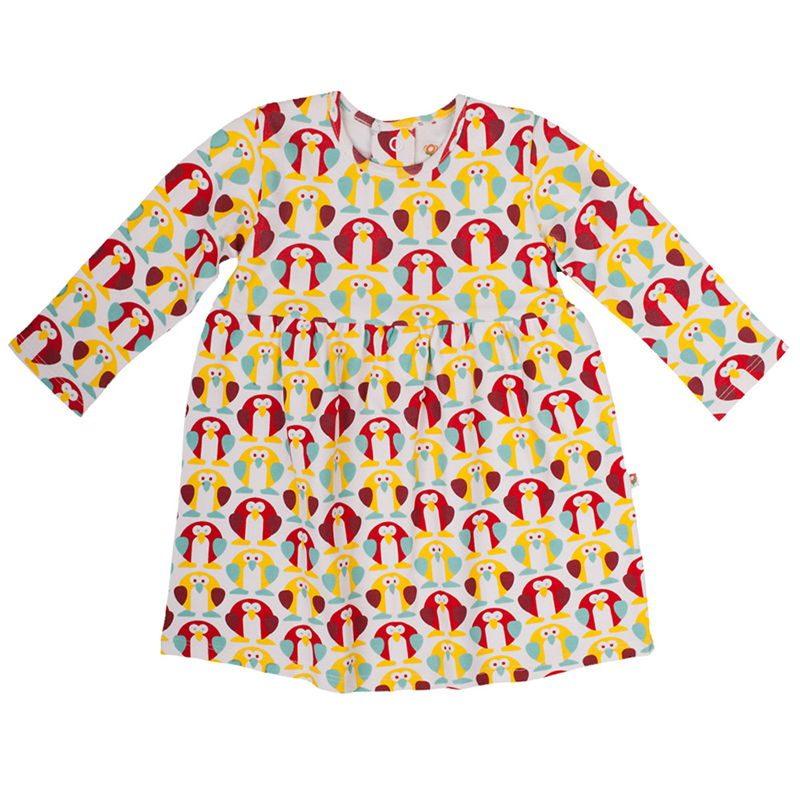 ropa-organica-bebe-kutuno-penguin-monetes-vestido