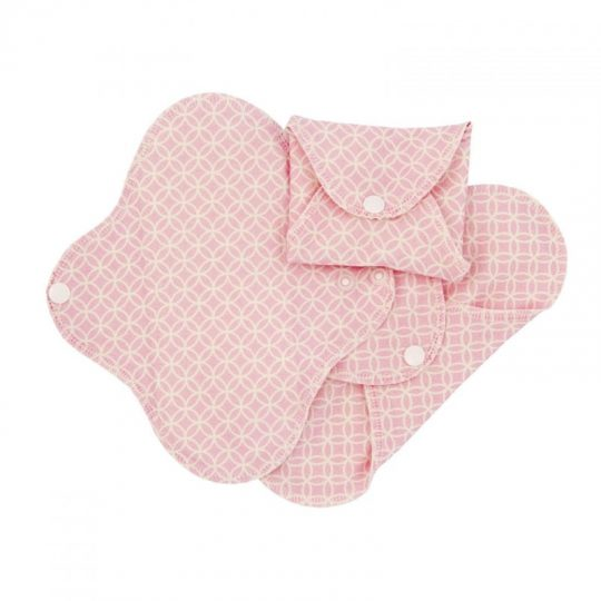 Compresas de tela Regular (Pack 3) - Rosa Geometric -