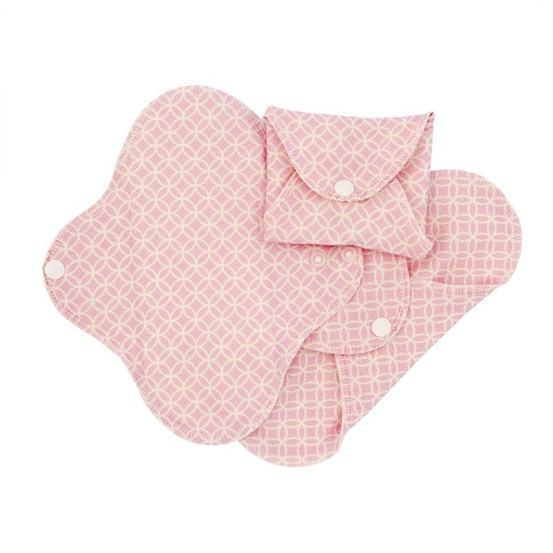 Compresas de tela Salva Slips (Pack 3) - Rosa Geometric - Monetes