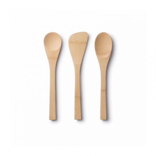 Set de 3 utensilios de Bambú
