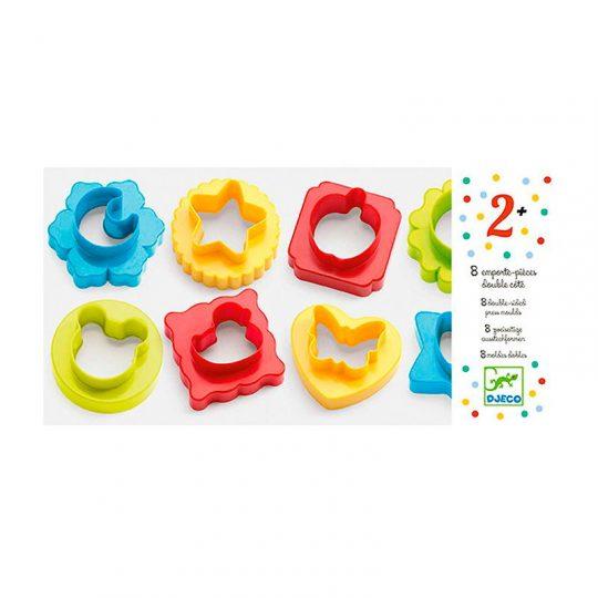 8 Moldes dobles para pasta de modelar