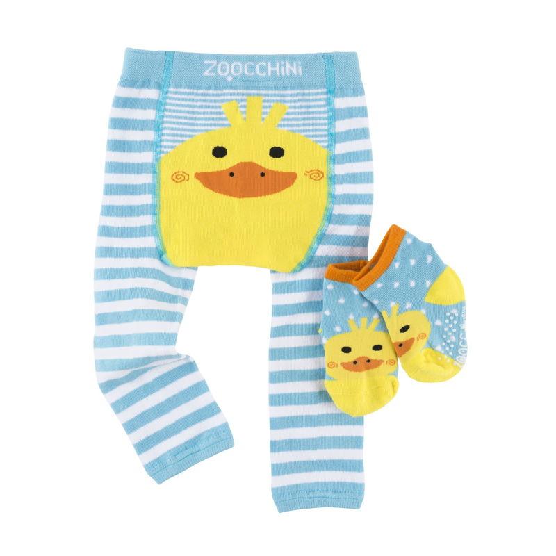set-leggings-calcetines-puddles-pato-zoocchini-monetes