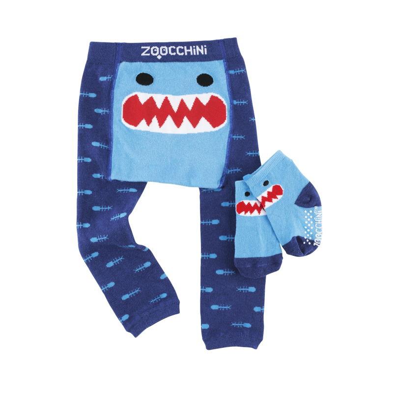 set-leggings-calcetines-sherman-tiburon-zoocchini-monetes