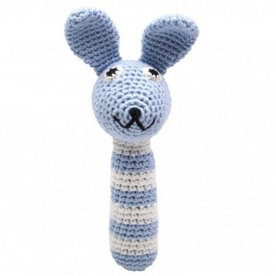 Sonajero Bambú Nature - Conejo Azul -