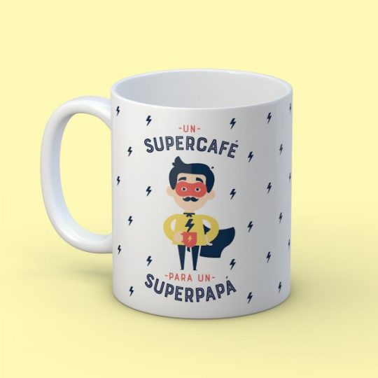Taza 'Supercafé para Superpapá'