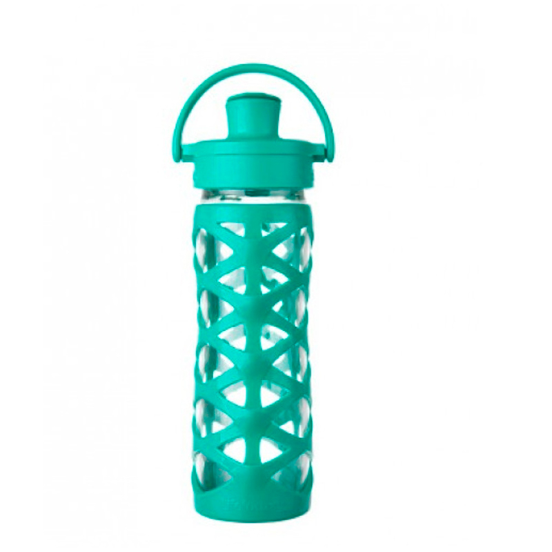 Botella 470 ml Lifefactory Active Cap Aquatic Green