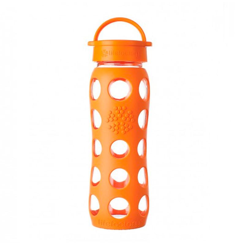 Botella 650 ml Lifefactory Classic Orange