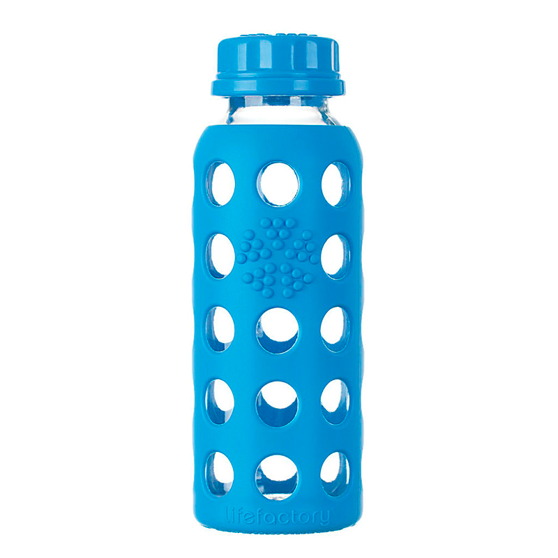 Botella 250 ml Lifefactory FlatCap Ocean