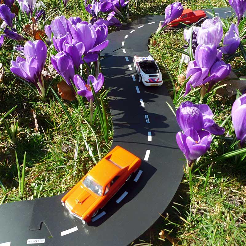 Carretera flexible de caucho Way To Play - 12 piezas -